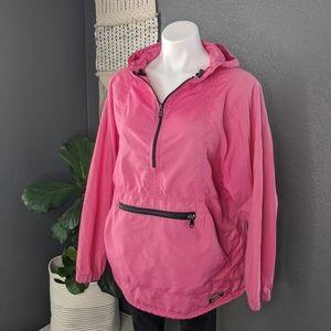 L.L. Bean Retro Pink Rain Jacket Windbreaker
